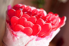 Gummy Hearts Stock Photography