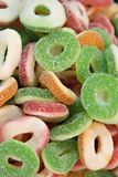 Gummy Jelly Wrings Candies. Closeup of gummy jelly rings candies Stock Photos
