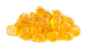 Gummy Peaches on white Stock Photos