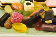 Gummy shaped candies Stock Photo