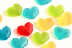 Gummy Sweet Hearts Royalty Free Stock Images