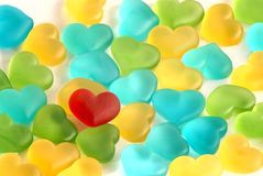 Gummy Sweet Hearts Stock Images