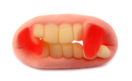 Gummy vampire teeth candy Stock Photography
