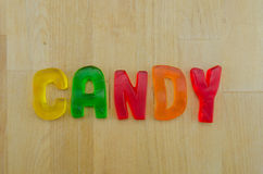 Gummy Words Candy Stock Photography