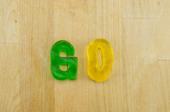 Gummy Words Go Royalty Free Stock Photography