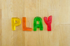Gummy Words Play Stock Photography