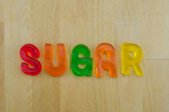 Gummy Words Sugar Jumbled Royalty Free Stock Image