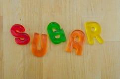 Gummy Words Sugar Jumbled Royalty Free Stock Image