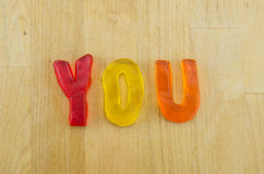 Gummy Words You Royalty Free Stock Photos