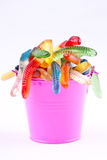 Gummy worm candies Royalty Free Stock Image