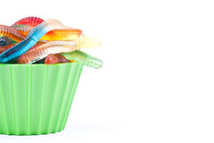 Gummy worm candies Royalty Free Stock Images