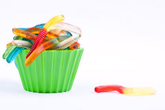 Gummy worm candies Stock Images