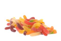 Gummy Worms  Royalty Free Stock Image