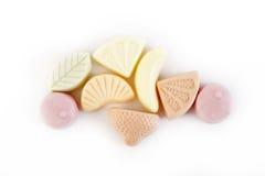 Gummy yogurt on white background Royalty Free Stock Image