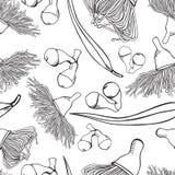 Gumnut y vector inconsútil del modelo del eucalipto stock de ilustración
