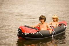 Gumowa łódź Fotografia Stock
