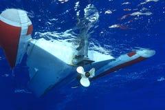 Gumowa łódź Obrazy Royalty Free
