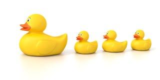 Gumowa kaczki rodzina Obrazy Stock