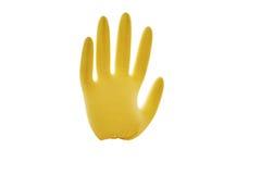 Gumowa rękawiczka wypełniająca z powietrzem zdjęcia stock