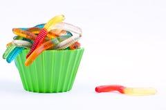 Gumowaci dżdżownica cukierki Obrazy Stock
