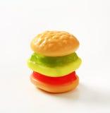 Gumowaty hamburger zdjęcia royalty free