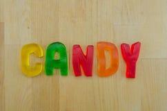 Gumowaty słowo cukierek Fotografia Stock