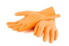 gumowe rękawiczki. Zdjęcie Royalty Free