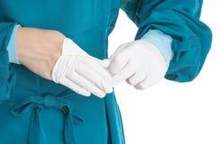 gumowe rękawiczki Obraz Stock