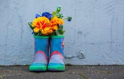 gumowi błękitny buty Obraz Stock
