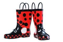 Gumowi buty dla dzieciaków Fotografia Royalty Free
