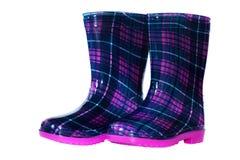 Gumowi buty dla dzieciaków Zdjęcia Stock