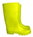 Gumowi buty - kolor żółty Obrazy Royalty Free