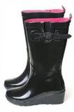 gumowi czarny buty Obraz Stock