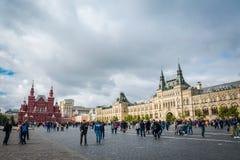 GUMOWY centrum handlowe przy placem czerwonym w Moskwa, Rosja obrazy stock