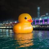 Gumowy kaczka projekt HK Objeżdża Obraz Stock