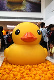 Gumowy kaczka projekt w Hong Kong Obraz Stock