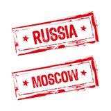 gumowy Moscow znaczek Russia Fotografia Stock