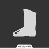Gumowych butów ikona dla sieci i wiszącej ozdoby Obrazy Stock