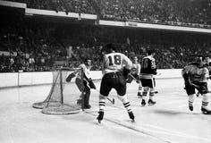 Gump Worsley, los Montreal Canadiens Fotografía de archivo