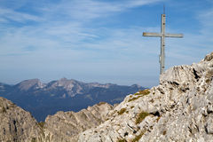 Gumpenkarspitze peak, Bavaria Stock Images
