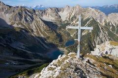 Gumpenkarspitze peak, Bavaria Stock Image