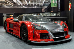 Gumpert Apollo at the 2014 Geneva Motorshow. The Gumpert Apollo Supercar at the 2014 Geneva Motorshow Royalty Free Stock Photography