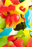 Gums. Fruit Gum mix served for a party Stock Image