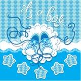 Gumshoes детей Dard праздника на голубой предпосылке Стоковое Фото