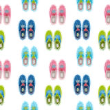 Gumshoes seamless pattern. shoes background Royalty Free Stock Photography