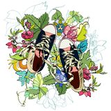 Gumshoes sketch flower Royalty Free Stock Image