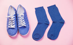 Gumshoes and socks Stock Image