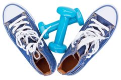 Gumshoes, tennis shoes Royalty Free Stock Photo
