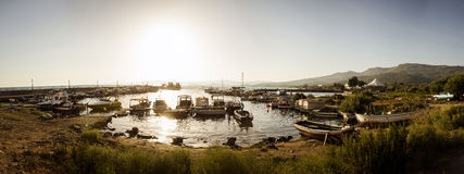 Gumuldur vissershaven Royalty-vrije Stock Foto's