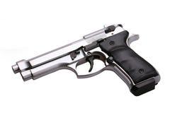 Gun. Automatic gun isolated on white Royalty Free Stock Photo